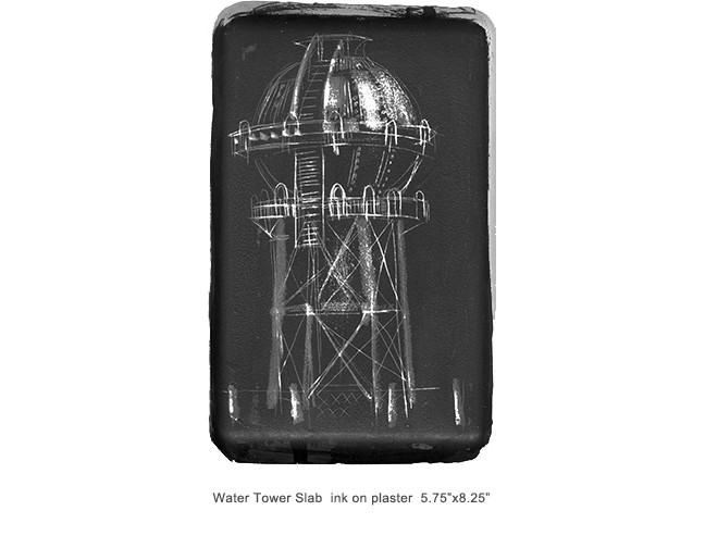 Water tower plaster